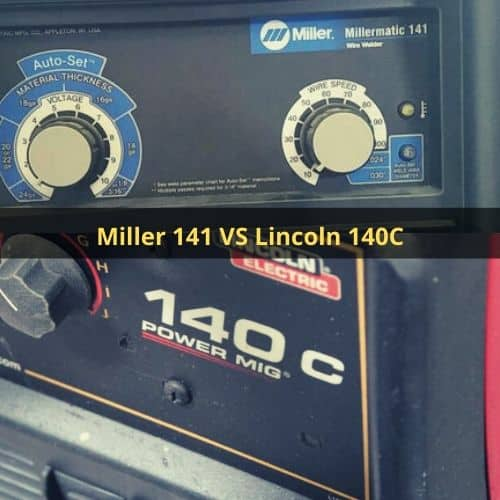 faceoff, Millermatic 141 with milcoln 140c