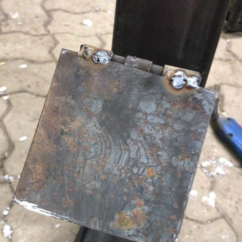 welded on hinges